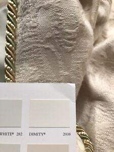 "Single Damask Curtain W189"" (fixed 86"") x L149"" (480cm x 380cm) Long Wide HUGE"