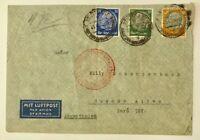 Dt. Reich Luftpost Europa Südamerika - Stuttgart n. Argentinien 1937