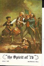 spirit of 76,marblehead massachusetts postcard