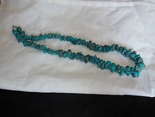 Graduated Arizona Turquoise with Silver, Pyrite Rare nugget (temp) necklace