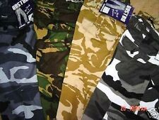 CAMO CAMOU WORK  COMBAT ARMY CARGO CASUAL WORK TROUSERS NEW  50 to 62  Waist BIG