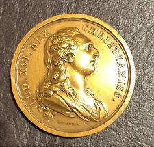 Louis XVI REX and Marie Antoinette MEDAL CHRISTIANISS R DUVIVIER