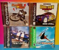 Cool Boarders 4 Motocross Test Drive 6 Tour Racing Playstation 1 2 PS1 PS2 Games