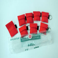 100 pcs CPR MASK WITH KEYCHAIN CPR FACE SHIELD AED FIRST AID TRAINING DISPOSABLE