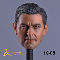 """1/6 George Clooney Head Carving Model JXtoys-05 F/12"""" Male Figure"""