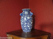 Antique 1890s.China Macao/Macau Blue/White Hand Painting Pomegranate Vase RARE!