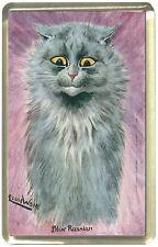 Louis Wain Blue Russian Cat Fridge Magnet,
