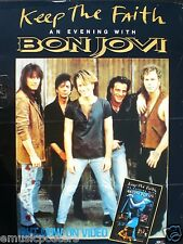"BON JOVI ""KEEP THE FAITH - AN EVENING WITH BON JOVI"" U.K. VIDEO PROMO POSTER"