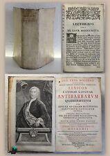 Nolte Joh. Frid. Noltenii Lexicon Latinae linguae 1744 Latein Lexikon mit Stich