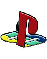 "Playstation (1"" Enamel Pin) play station ps logo hat pendant, ps1 ps2 game, NEW"