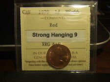 CANADA ONE CENT 1979 Hanging 9, ICCS MS-66 !!!!! Full Red! .