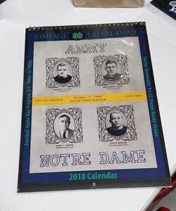 NCAA Notre Dame Fighting Irish 2018 Vintage Calendar Reprint Program Covers