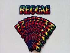 "10 RASTA  REGGAE Embroidered Patches 1.5"" x 5"" iron-on"