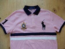 Polo Ralph Lauren Big Pony Crest Embroidered Custom Slim Fit Mens Mesh Shirt NWT