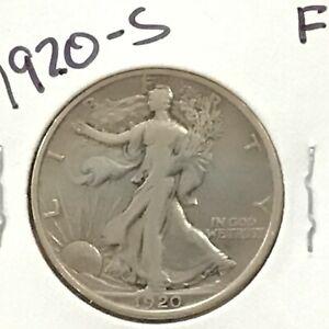 1920-S Walking Liberty Silver Half Dollar   E8960