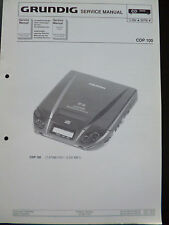 ORIGINALI service manual Grundig CDP 100