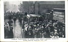 Coventry. Tramcar Overturned at Lower Ford Street corner 1907. Tram Accident.