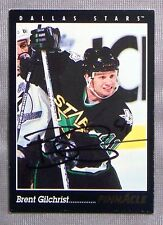 Brent Gilchrist Dallas Stars 1993-94 Pinnacle Signed Card