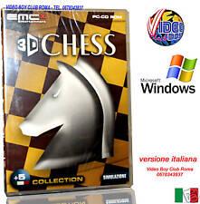 3D CHESS GIOCO DI SCACCHI PC GAME CD ROM WINDOWS NUOVO