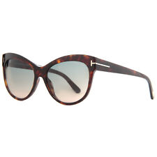 Tom Ford Lily TF430 52P Havana Brown Blue Gradient Women's Cat Eye Sunglasses