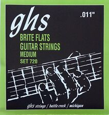 GHS 720 Brite Flats Flatwound Electric Guitar Strings 11-50 set 720