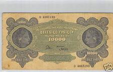 POLOGNE 10 000 MAREK 11.3.1922 N° D 4065193 PICK 32