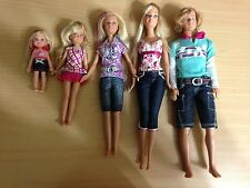 2008 Barbie Sisters Skipper Stacie Kelly & Ken Camping Dolls Lot Rare