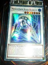 YU-GI-OH! SUPER RARE MONOCEROS AURA BLANCHE RIRA-FR095 NEUF EDITION 1