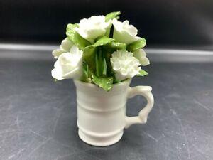 AYNSLEY BONE CHINA PORCELAIN WHITE FLOWER BOUQUET - ADORABLE