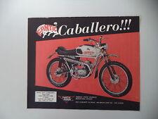advertising Pubblicità 1970 MOTO FANTIC CABALLERO TX-9 SUPER CROSS 50