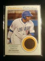 2017 TOPPS HERITAGE MINORS  CLUBHOUSE COLLECTION JERSEY RELIC Dominic Smith