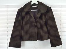 BIANCA SPENDER For CARLA ZAMPATTI sz 10 womens brown Faux fur jacket [#3114]