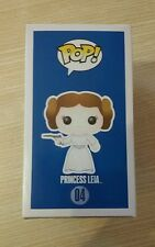 Funko Pop Star Wars Princess Leia ORIGINAL BLUE BOX #04 Free 1 pop protector NR
