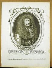 Frédéric-Guillaume Ier de Brandebourg Prusse XVII è Nicolas DE LARMESSIN Gravure
