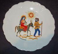 "Tirschenreuth Bavaria ""Mary, Joseph & Jesus"" Collector Plate- 8.5"""