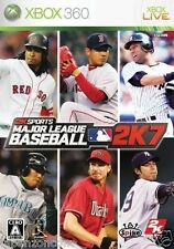Used Xbox 360 League Baseball 2K7 MICROSOFT JAPAN JP JAPANESE JAPONAIS IMPORT
