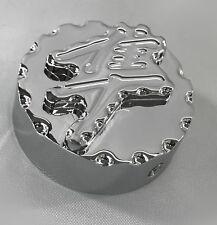 99-08-18 Hayabusa Huge 3D Chrome Engraved Ball Cut Center Yoke Cover Cap