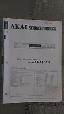 Akai at-a102/L Service Manual stereo tuner receiver radio original repair book