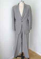 VGC Vtg 60s Rat Pack After Six Gray Tuxedo 2-Pc Suit Prom Formal Wedding 40