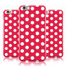 DYEFOR RED WHITE POLKA DOT PATTERN CASE COVER FOR APPLE IPHONE MOBILE PHONES