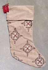 POTTERY BARN ~ ANITA MEDALLION STOCKING ~ CHRISTMAS ~ SOLD OUT
