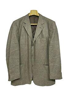 "Ermenegildo Zegna ""SOFT"" Grey Textured Blazer - 100% SILK - Size 56 / UK/US 46R"