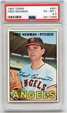 1967 TOPPS BASEBALL #451 FRED NEWMAN, CALIFORNIA ANGELS - PSA 6.5 (17989)