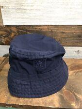 Vintage Stussy Crest Navy Bucket Hat Large XLarge