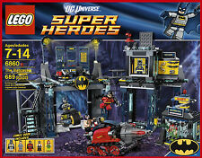 New Lego Super Heroes 6860 Batcave Batman Bruce Wayne Robin Poison Ivy Bane Free