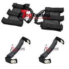 4x Black Holder For Ultimate Jeep Roll Bar Grab Handles 1987-2014 Wrangler YJ JK
