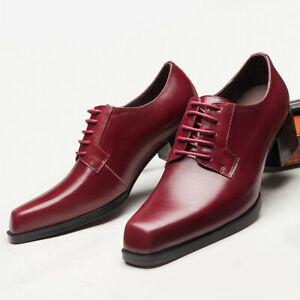 Mens Pu Leather Dress Formal Business Work Oxfords Wedding Pointy Toe Shoes
