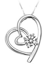 Shining Hearts Pendant Necklace for Birthday Mothers Day Valentines (26297)