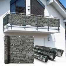 PVC Balkon Sichtschutz Sichtschutzfolie Schiefer 6x0,75m Balkonabdeckung