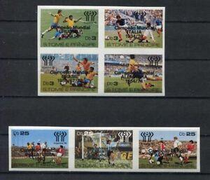 s5442) S.TOME E PR. 1978 MNH** WC Football - CM Calcio 7v OVPTD WINNERS IMPERF.